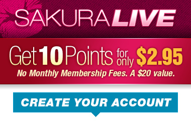 SakuraLive.com - Get 10 Points for only $2.95
